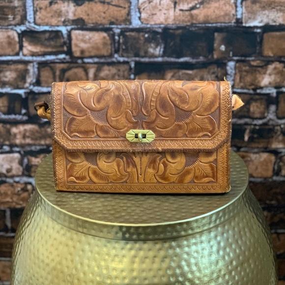 6a77a52f294 Vintage Bags   Hand Tooled Leather Shoulder Bag   Poshmark